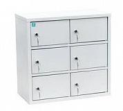 Индивидуальный шкаф кассира на 6 отделения вертикальный, навесной (ИШК-6)
